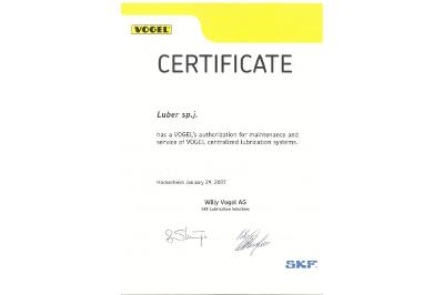 Certyfikat Vogel