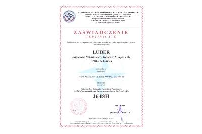 Certyfikat nadania NKPGN